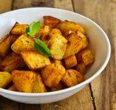 印地安人油煎的土豆 图库摄影