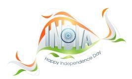 印地安人的美国独立日光滑的文本 库存照片