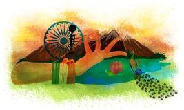 印地安人的美国独立日创造性的例证 图库摄影