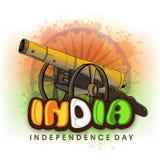 印地安人的美国独立日大炮 库存照片