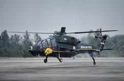 印地安人空军队光战斗直升机 库存照片