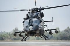 印地安人空军队RUDRA直升机 免版税库存图片