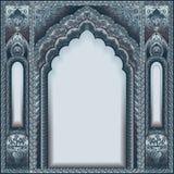 印地安人被装饰的曲拱 颜色银 免版税库存图片