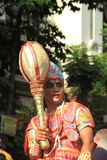 年轻印地安人Bhim献身者。 免版税库存照片