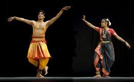 印地安人Kalakshetra舞蹈 库存图片