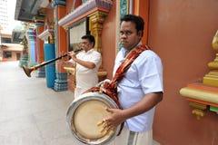 印地安传统音乐 库存图片