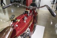 1920印地安侦察员Motocycle 免版税库存照片
