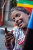 印地安儿童画象 免版税库存图片