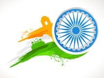 印地安共和国天庆祝的Ashoka轮子 库存图片
