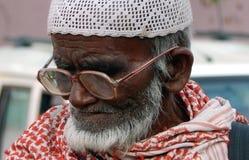印地安前辈的特写镜头画象 免版税图库摄影