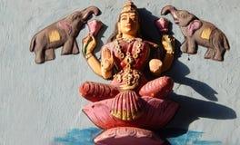 印地安印度女神Saraswati墙壁艺术 库存照片