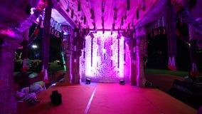 印地安印度婚姻的Mandap装饰 影视素材