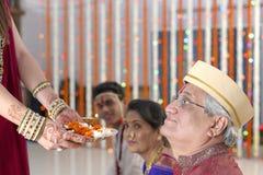 印地安印度婚礼仪式 免版税库存图片