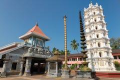印地安印度寺庙在Ponda,果阿,印度 图库摄影