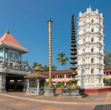 印地安印度寺庙在Ponda,果阿,印度 免版税库存图片