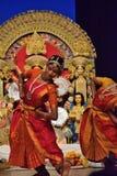 印地安古典舞蹈表现 图库摄影
