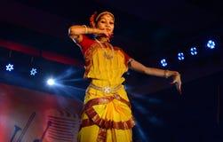 印地安古典舞蹈 库存照片