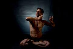 印地安古典舞蹈 图库摄影