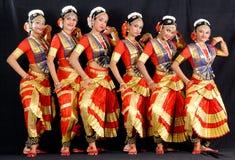 印地安古典舞蹈 库存图片
