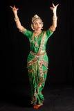 印地安古典舞蹈 免版税库存照片
