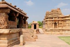 印地安古老architeckture在Aihole 免版税库存图片
