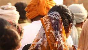 印地安可怜的人在村庄拉贾斯坦 影视素材