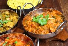 印地安咖喱膳食食物 免版税图库摄影