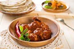印地安咖喱鸡。 库存图片