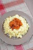 印地安咖喱黄油鸡 免版税图库摄影