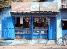 印地安商店的前面在加尔各答 免版税库存图片