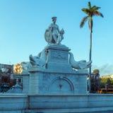 印地安喷泉-哈瓦那,古巴的标志 免版税库存图片