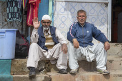 印地安回教人在斯利那加,克什米尔,印度 库存图片