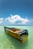 印地安土气小船 库存照片
