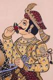 印地安墙壁艺术细节 免版税库存照片