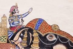 印地安墙壁艺术细节 免版税库存图片