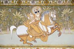 印地安墙壁艺术 免版税库存图片