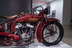 1927印地安大首要摩托车 库存照片