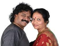印地安夫妇画象  图库摄影