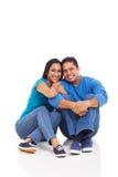 年轻印地安夫妇 免版税库存照片