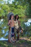 印地安夫妇 图库摄影