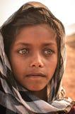 印地安女孩的画象 图库摄影