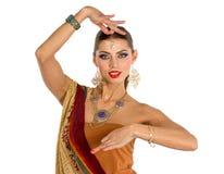 印地安女孩跳舞 免版税图库摄影