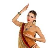 印地安女孩跳舞 库存图片
