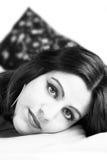 印地安女孩II黑白 免版税库存图片