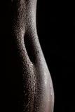 印地安女性肚脐吸引的剪影  库存图片