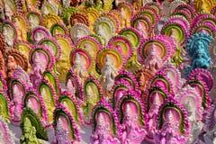 印地安女神Saraswati雕象  库存照片