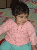 印地安女婴微笑 免版税库存图片