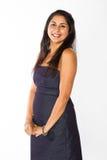 印地安妇女微笑 免版税库存照片