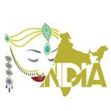 印地安妇女的人 免版税库存图片