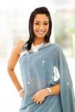 印地安妇女莎丽服 免版税库存图片